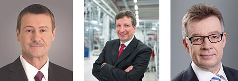Klaus Helmrich, Mitglied des Vorstands, Siemens Dr. Peter Köhler, CEO Weidmüller Gruppe und Vorsitzender von IACO (Industrial Affairs Committee), Businesseurope Dr. Klaus Mittelbach, Vorsitzender der Geschäftsführung, ZVEI