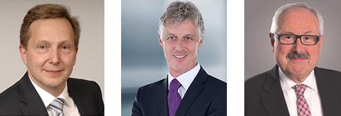 Dr. Martin Schumacher, Mitglied des Vorstands, ABB AG Dr. Thomas Steffen, Geschäftsführer Forschung und Entwicklung, Rittal Michael Ziesemer, Präsident, ZVEI