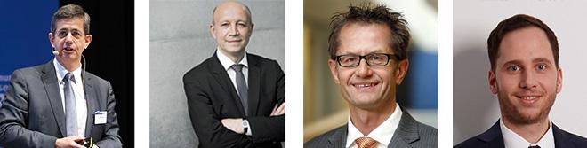 Dr. Peter Heuell, Vorsitzender der Geschäftsführung, Landis+Gyr Andreas Kuhlmann, Vorsitzender der Geschäftsführung, dena Ingmar Streese, Geschäftsbereichsleiter Verbraucherpolitik und Mitglied der Geschäftsleitung, Verbraucherzentrale Bundesverband moderiert von Marco Sauer, ZVEI